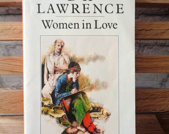 Vintage Penguin paperback DH Lawrence Women in Love society love lovemaking romantic novel tragedy romance English Literature The Rainbow