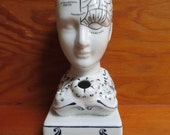 Phrenology Head Ceramic Inkwell - Authentic Models Reproduction - Calligraphy Desktop Accessory