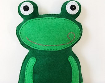 Felt Frog Stuffed Animal