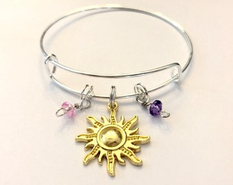Tangled Rapunzel Inspired Sun Bangle