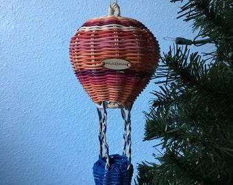 Hand Woven Hot Air Balloon Woven Art