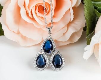 Blue Sapphire Set | Royal Blue Wedding | Navy Blue Wedding | Bridesmaid Sets | Bridesmaid Jewelry | Bridesmaid Gifts | Wedding Jewelry