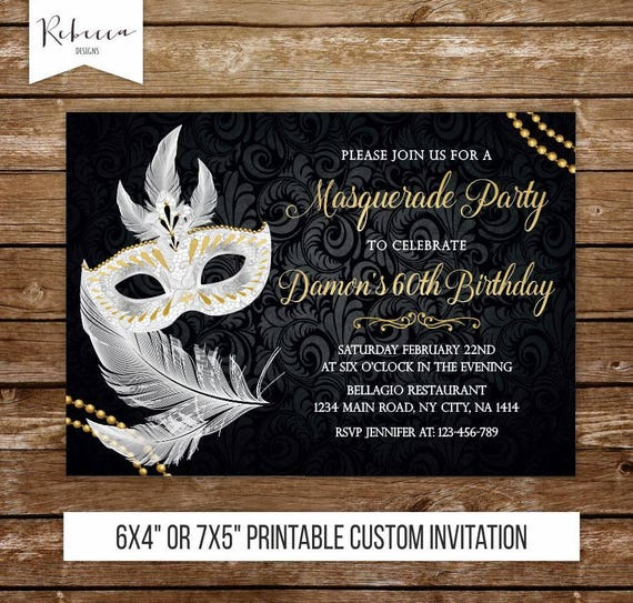 masqurade invitation
