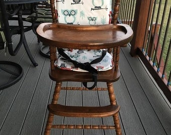 Nice Owl/ High Chair Cushion / Wooden High Chair Pad/highchair Cover / Highchair  Cushion