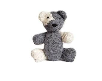 Benjamin the Hand Knit Bear, Stuffed Toy, cute Bear, Handmade, Stuffed Animal, baby gift, soft bear, bear plushie, bear softie, plush bear