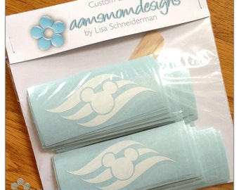 DIY Vinyl Decals - FE Gifts - Disney Cruise Line - Mouse Ears and Waves Logo