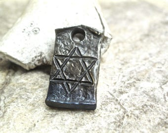 Star of David -- hand forged pendant perfect gift for the child of Judea.