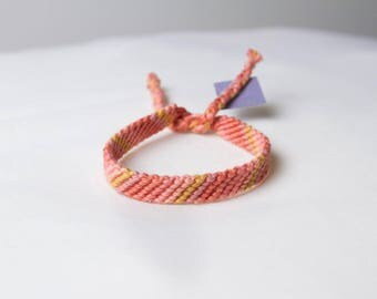 Friendship bracelet - Salmon collection 45a