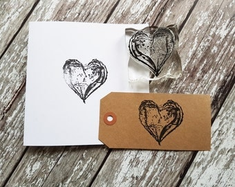 Big Heart stamp, rubberstamp love