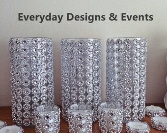 54pc Wedding Centerpiece Set, Centerpieces, silver, wedding, wedding decorations, wedding, wedding favors, bridal shower, wedding decor