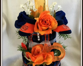 Baby Shower Gift Baby Shower Chicago Football Baby Bears Disposable Diaper Cake Baby Shower Decorations