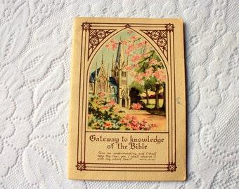 Gateway To Knowledge of the Bible - vintage Religious Book, Religious Ephemera