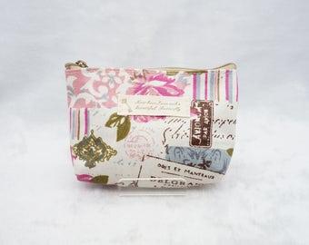 Handmade Fabric Coins Purse/ Card Purse/ Pouch - Floral