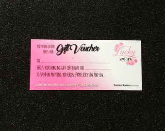 Gift Voucher - 50 Pounds - Certificate Present Breastfeeding New Mama Mum