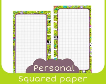 refill notes Personal music style - Printable - squared paper