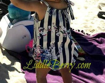 Baby Bubble Romper - party stripes - *1 left in stock - choose your size*
