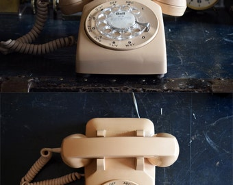 Beige Northern Electric Rotary Bell Systems Telephone - Made in Canada- 100% Functional