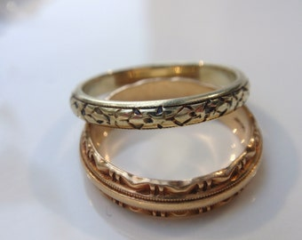 Orange Garnet Triangle Mens Ring