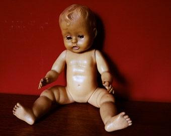 "Large 18.5"" plastic creepy baby doll"