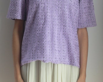 LAVENDER TSHIRT -lilac, purple, cute, pastel wave, cyber, summer, club kid, aesthetic, normcore, 90s, clueless, relief-
