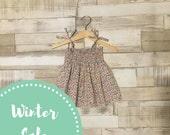 Floral Print Baby Girls Dress | Floral Pattern Dress | Smocked Dress | Ditsy Print Sundress | Baby Summer Dress | Baby Girls Sundress