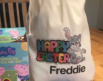 Easter gift sack etsy personalised easter gift bags various sizes freddie design negle Image collections