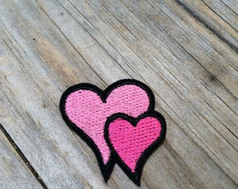 Heart Patch, Vintage Embroidered Patch, Love Patch, Patch, Applique Iron On Patch