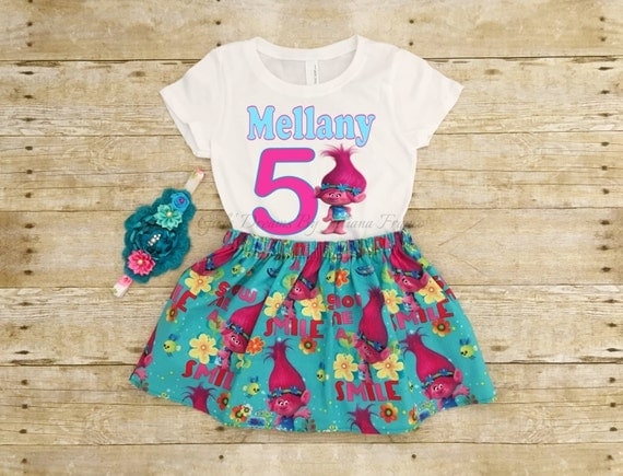 Personalized Trolls Birthday Outfit