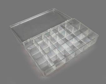 Vintage Clear Plastic Display Case Top Lid Jewelry Case Small Medium Size