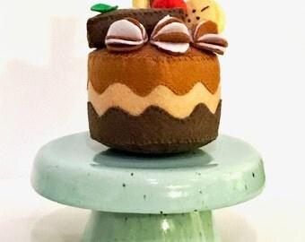 Handmade Decorative Mini Cake Stand - Light Green Celery Color