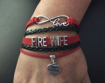 FIRE WIFE Multi Strand Infinity Bracelet
