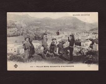 enfants dansant - carte postale ancienne