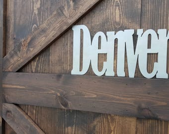 CUSTOM Metal Word Sign, Farmhouse Decor, Rustic Sign, Rustic Metal Sign, Rustic Home Decor, Farmhouse Sign, Metal Sign, Farmhouse Sign