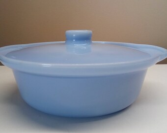 Extremely Rare Pyrex Delphite Casserole with Lid, Pyrex Canada 028