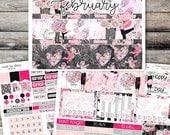 February Monthly View Sticker Kit (Erin Condren Life Planner)