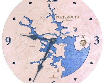 "Portsmouth, New Hampshire  12"" Clock"