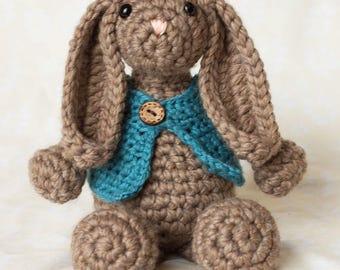 Crocheted bunny, crocheted rabbit, amigurumi bunny, amigurumi crochet, stuffed animal, stuffed bunny
