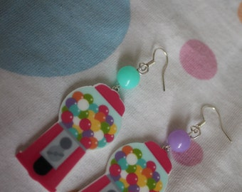 Earrings machine candy
