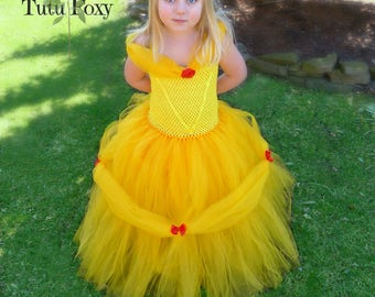 Beauty and the Beast Tutu Dress, Belle Inspired Tutu Dress, Beauty and the Beast Tutu, Beauty and the Beast Costume, Princess Belle Costume