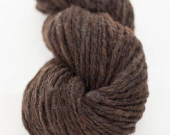Chocolate brown - 2 ply cormo handspun yarn