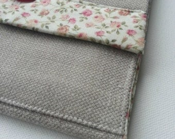 Laptop Sleeve, eReader, iPad, Kindle,Tablet, Sleeve, Pouch, Case - Linen, Ditsy, Floral Print