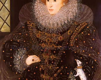 "George Gower ""Queen Elizabeth I"" 1600 Reproduction Digital Print Matriarch Ruler Queen of England and Ireland"