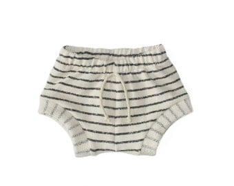 shorties in natural stripe