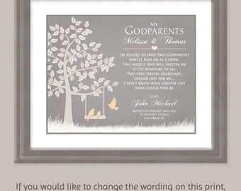 Godparent gift etsy godparents gift gift for godparents personalized godparents gift baptism gift for godparents card for godparents negle Gallery