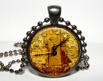 STEAMPUNK PENDANT - Steampunk ship Jewelry - Steampunk necklace Watch Jewelry -  Steampunk Timer Pendant Steampunk Horologe Pendant