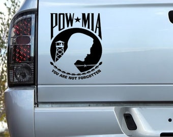 Vinyl Decal -  POW MIA Decal for Cars, Windows, Walls, Laptops, etc...