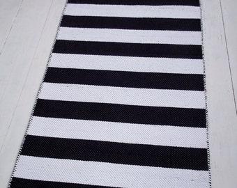 graue und schwarze baumwolle teppich skandinavisches design, Hause ideen