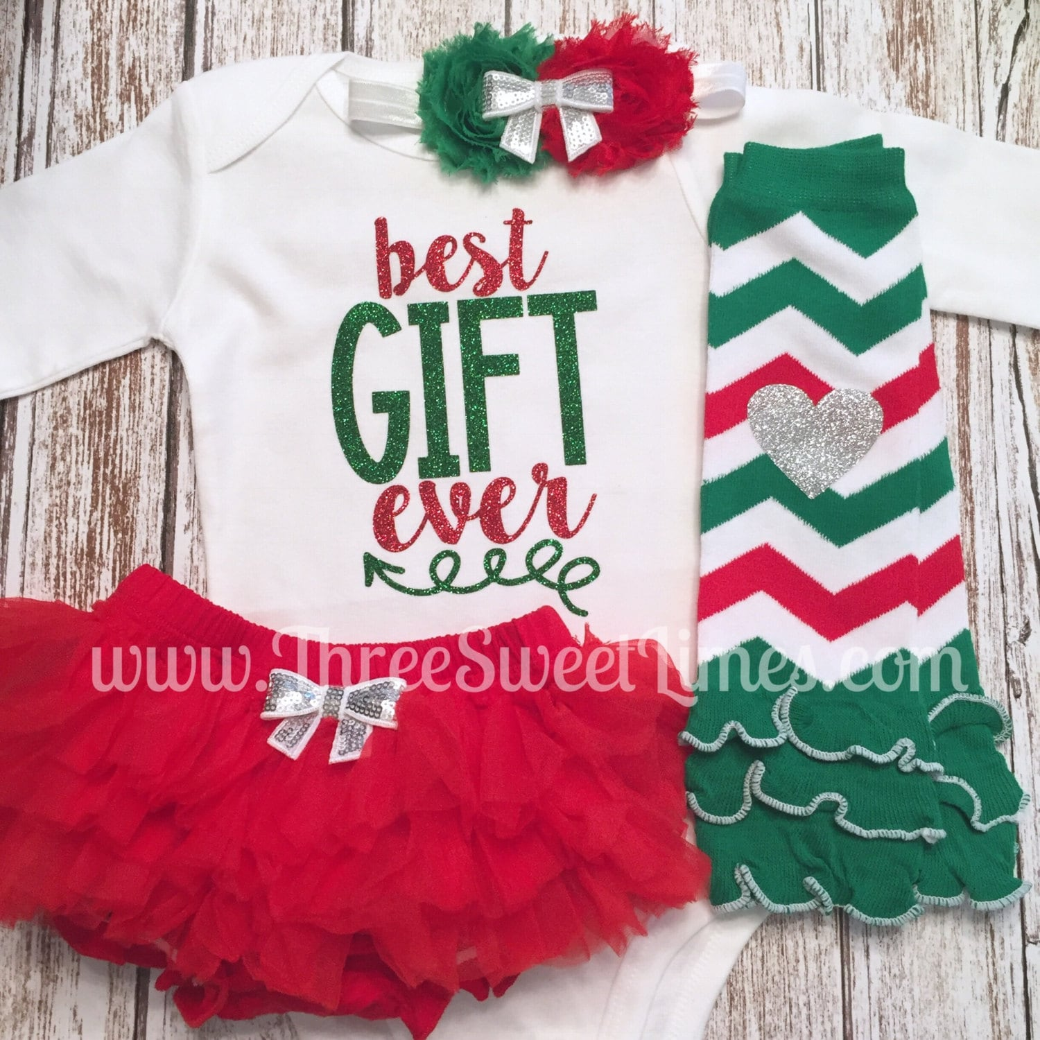 Christmas gown ideas 18th - Baby Girl Christmas Outfit Best Gift Ever Outfit Baby S First Christmas Opt Leg