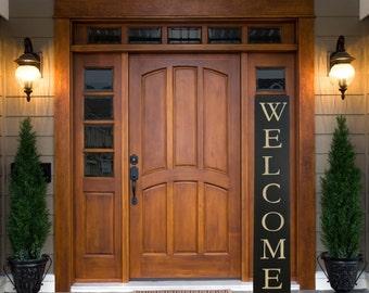 Front Door Welcome Sign, Front Porch Decor, Front Door Sign, Welcome Wood Sign