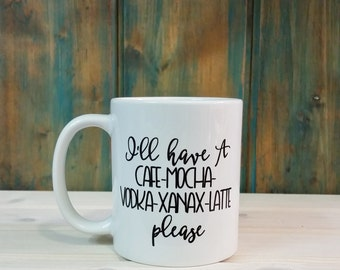 Funny mugs, office mug, vodka mug, coffee mug, coffee cup, unique coffee mug, best friend gift
